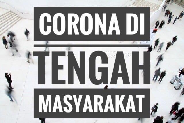 Corona di tengah masyarakat Indonesia